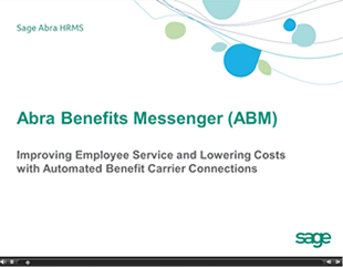 Sage HRMS Benefits Messenger Recorded Demo