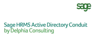 Sage HRMS Active Directory Conduit by Delphia Consulting