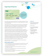 Sage Payroll PayCards