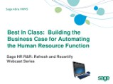 Best In Class: Building the Business Case for Automating the Human Resource Function