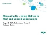 Measuring Up - Using Metrics to Meet and Exceed Expectations