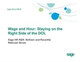 Wage and Hour: Staying on the Right Side of the DOL