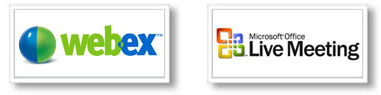Integrations with WebEx and Microsoft Live Meeting