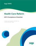 Health Care Reform - 2013 Compliance Checklist