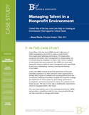 Managing Talent in a Nonprofit Environment
