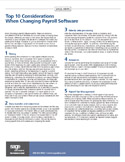 Top 10 Considerations When Changing Payroll Software